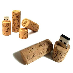 Wine Cork Recycled Wood USB Flash Drive - abrandz