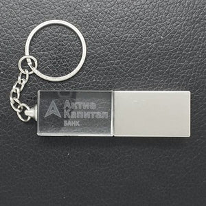 LED Crystal USB Drive with Key Chain - abrandz