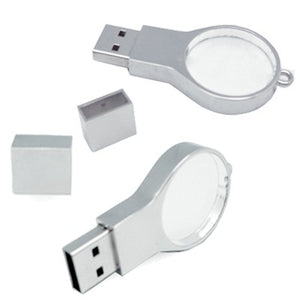 Magnifier Shape Crystal USB Memory Drive with LED Light - abrandz