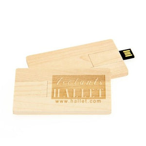 Wooden Card USB Flash Drive - abrandz
