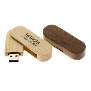 Swivel Wooden USB Flash Drive | AbrandZ Corporate Gifts Singapore