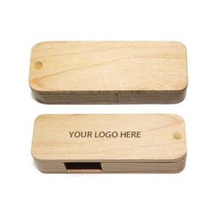 Wooden Rectangle USB Flash Drive - abrandz