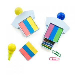 Highlighter With Post It Pad And Paper Clips - abrandz