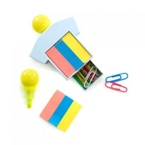 Highlighter With Post It Pad And Paper Clips | Highlighter, Post-it Pad, Stationery | desk | AbrandZ: Corporate Gifts Singapore