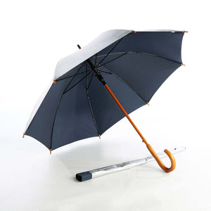 24'' Auto Open Umbrella with Wooden Handle