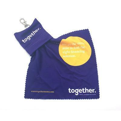 Mobile Microfiber Cleaning Cloth with Pouch | AbrandZ.com