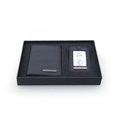 Passport Holder with Luggage Tag Gift Set | AbrandZ.com
