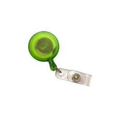 Pull Reel | Opaque Clear Green Round