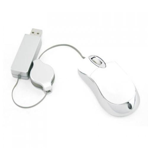 Retractable Mouse with 2 Port Hub