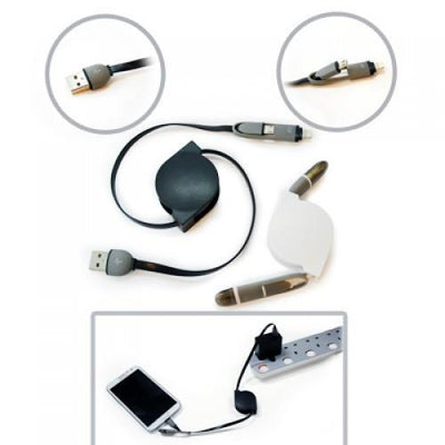Solotech 2 In 1 Retractable Cable | Mobile Accessories | AbrandZ: Corporate Gifts Singapore