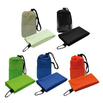 Suede Sports Towel with Carabiner | AbrandZ.com