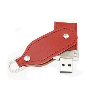 Swivel and Hook Leather USB Drive