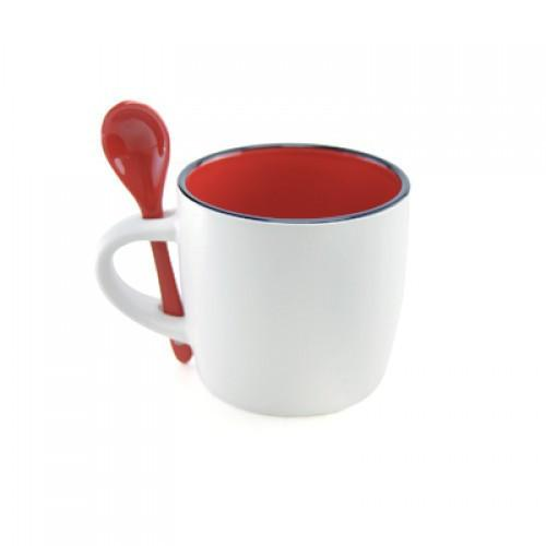 Victoria Ceramic Mug with Spoon