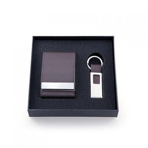 Voyaran Double Side Name Card Holder With Keychain