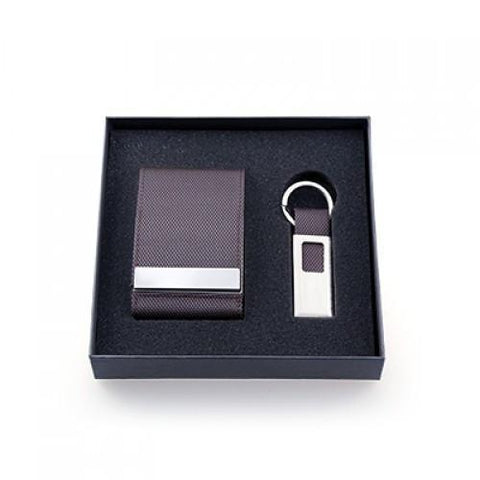 Voyaran Double Side Name Card Holder With Keychain | AbrandZ.com