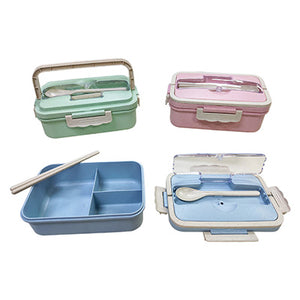 Wheat Straw Bento Lunch Box with handle - abrandz