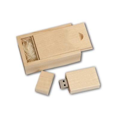 Wooden Rectangle USB Flash Drive