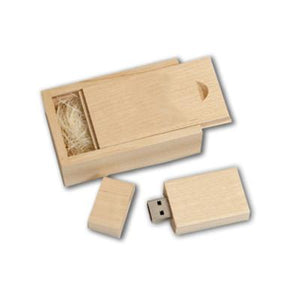 Wooden Rectangle USB Flash Drive | AbrandZ: Corporate Gifts Singapore