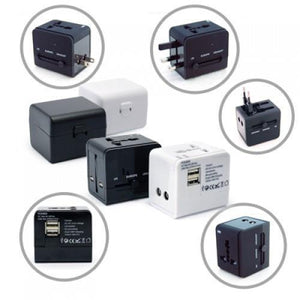 Worldwide Travel Adaptor With 2 USB Hub and Case | AbrandZ: Corporate Gifts Singapore