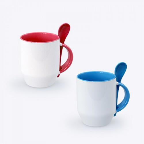Zecore Sublimation Mug With Spoon