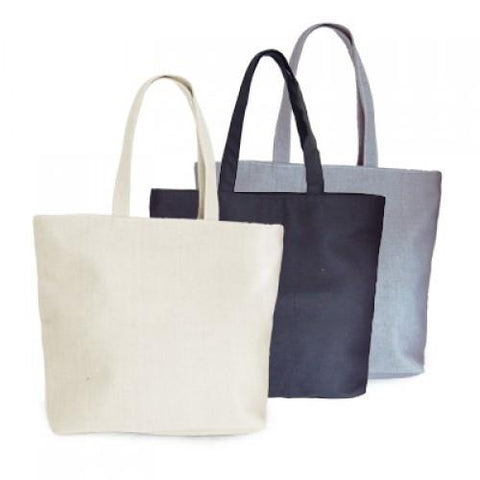 Zippered Eco Cotton Bag | AbrandZ.com