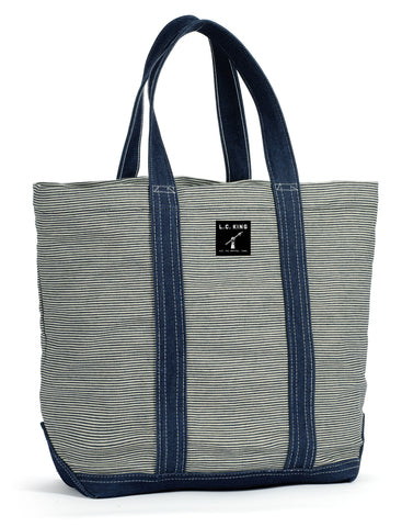 LC King Hickory Stripe Tote Bag