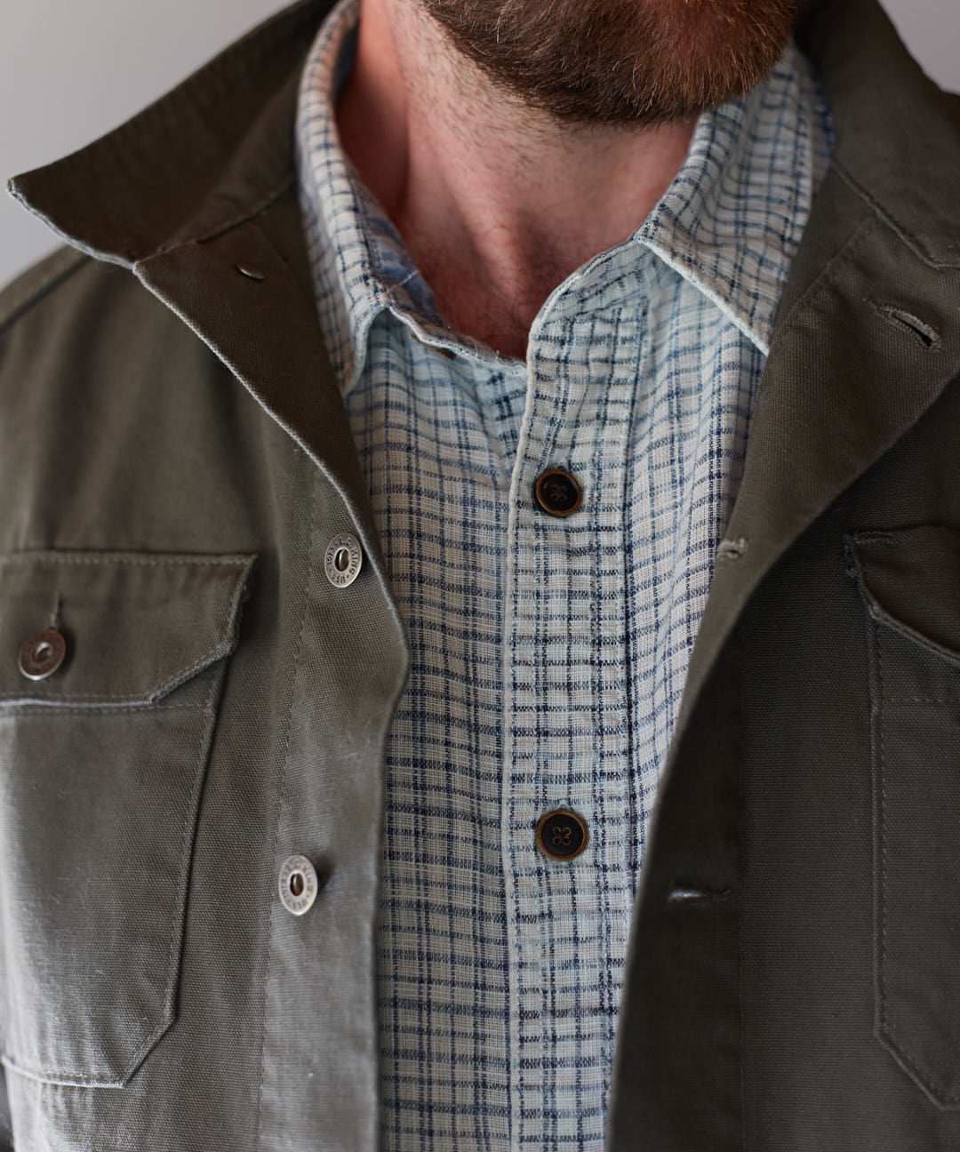 Olive Canvas Utility Jacket