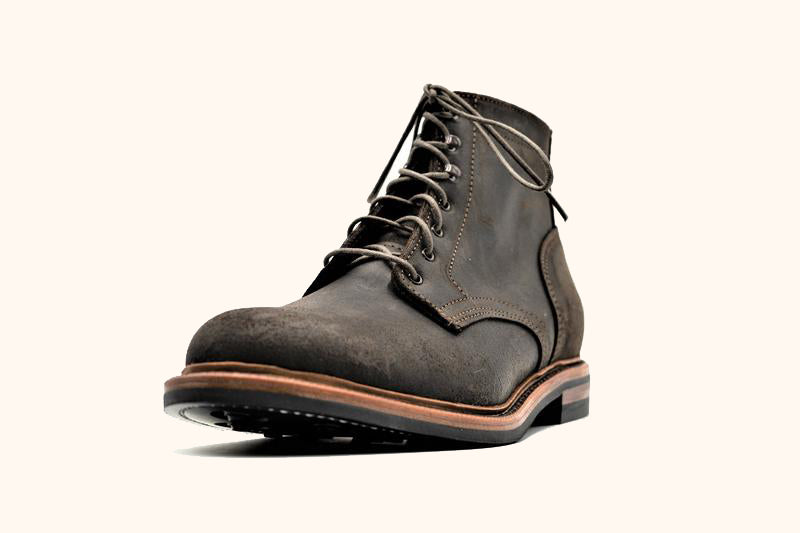 Dark Chocolate Waxed Commander Boot