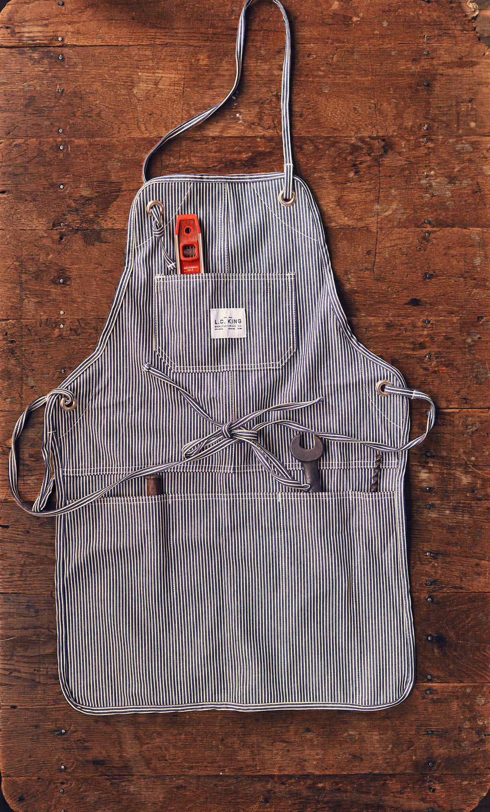 Hickory Stripe Grilling Apron