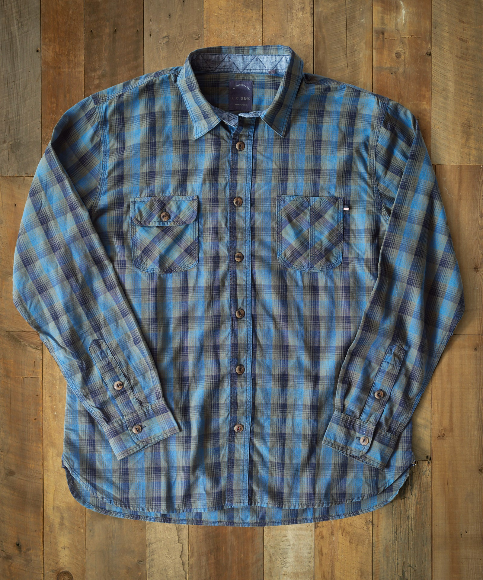 Indigo Ombre DUCK Work Shirt