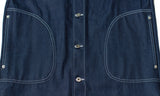 Indigo Denim Long Jacket with 1/2 Circle Pockets