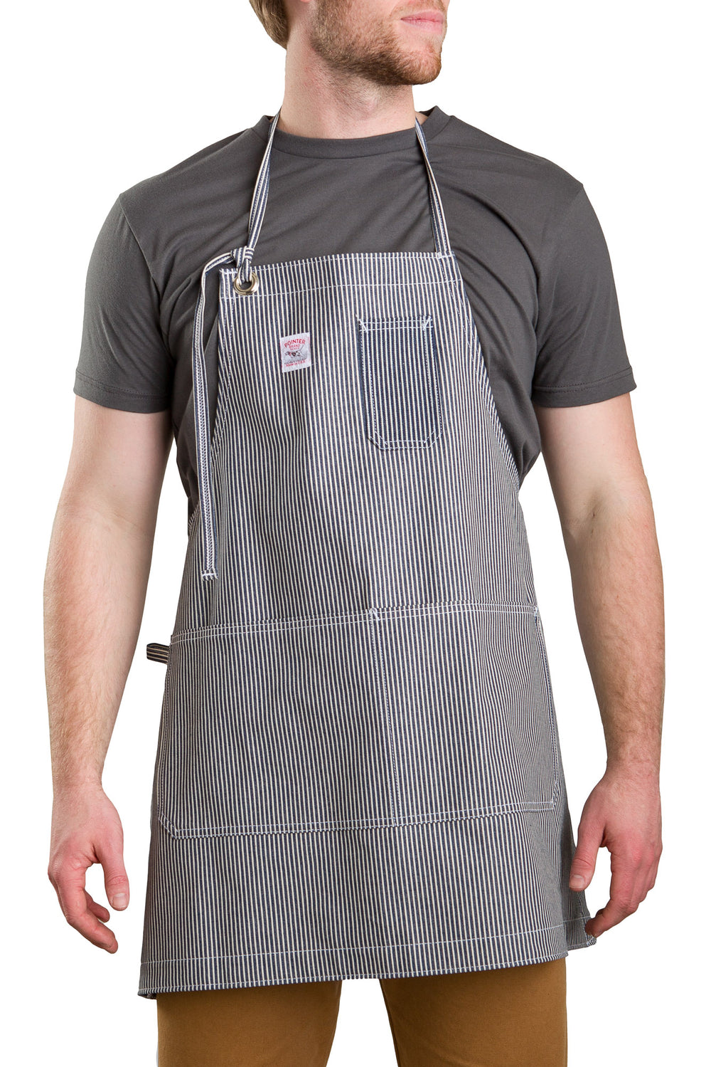 By what formula the width of the apron is calculated in the kitchen