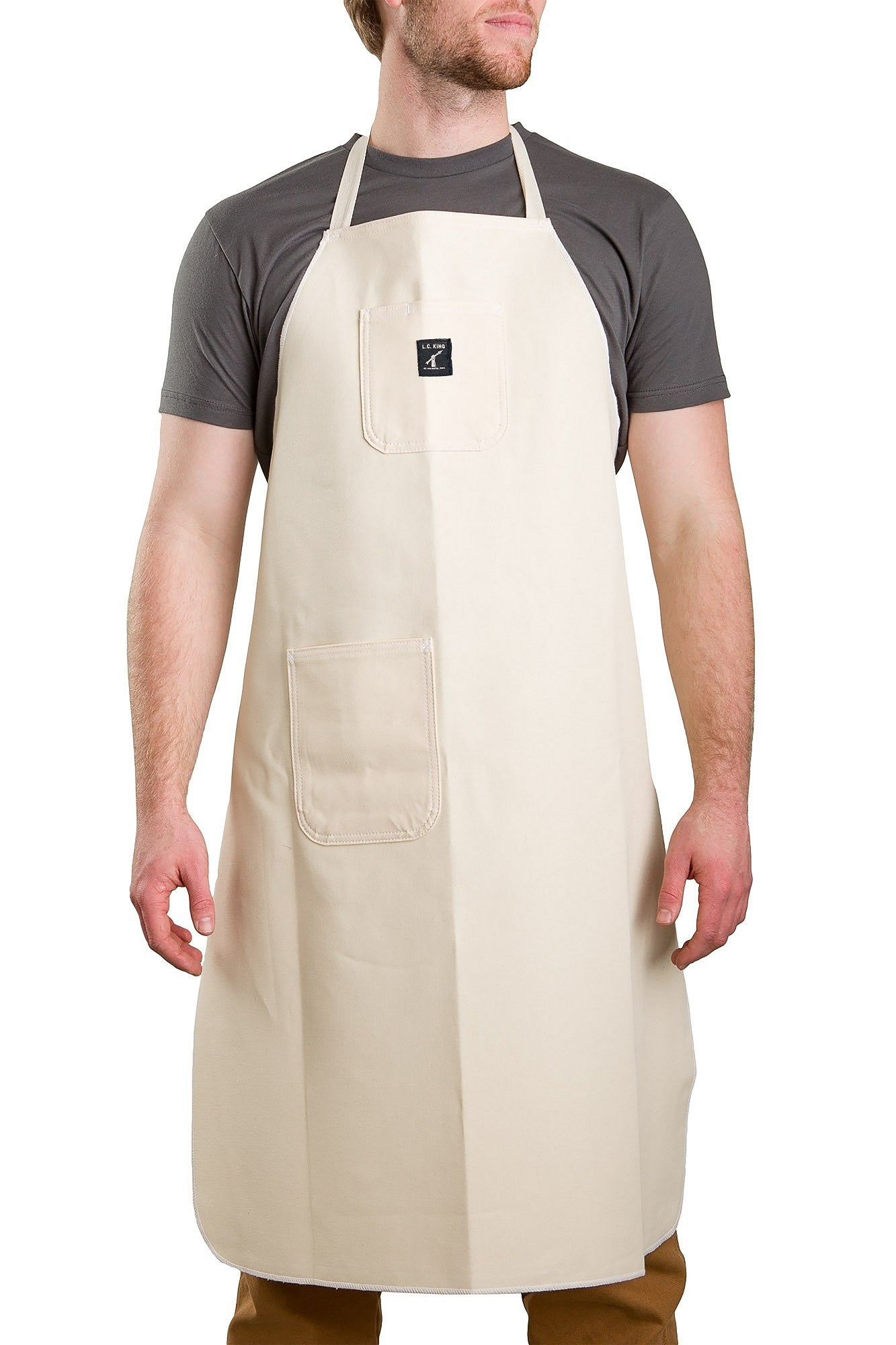 White Drill Shop Apron