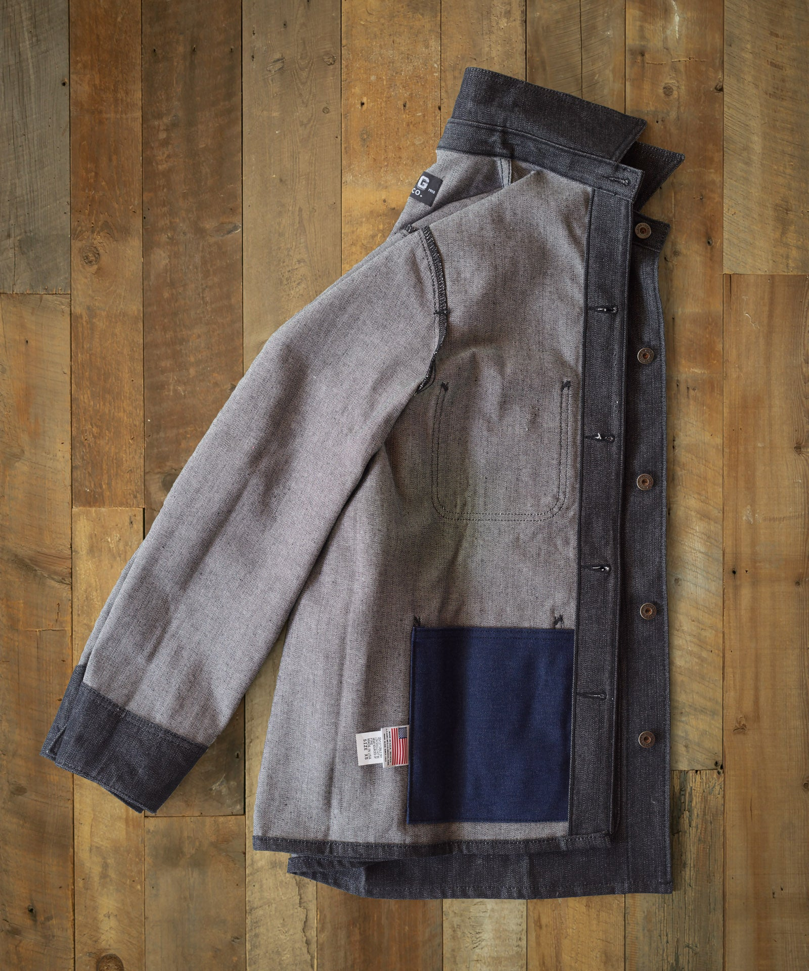 Black Denim Chore Coat