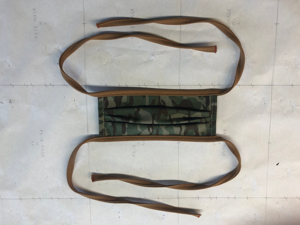 Camo Face Mask w/Brown Duck Trim