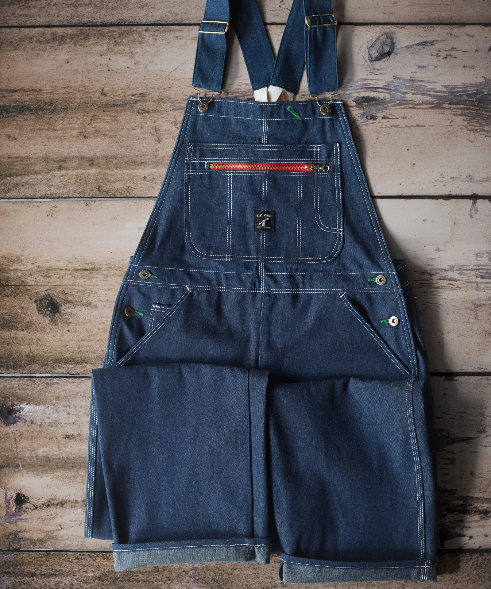 LC King Indigo Denim Low Back Overalls - Full Cut