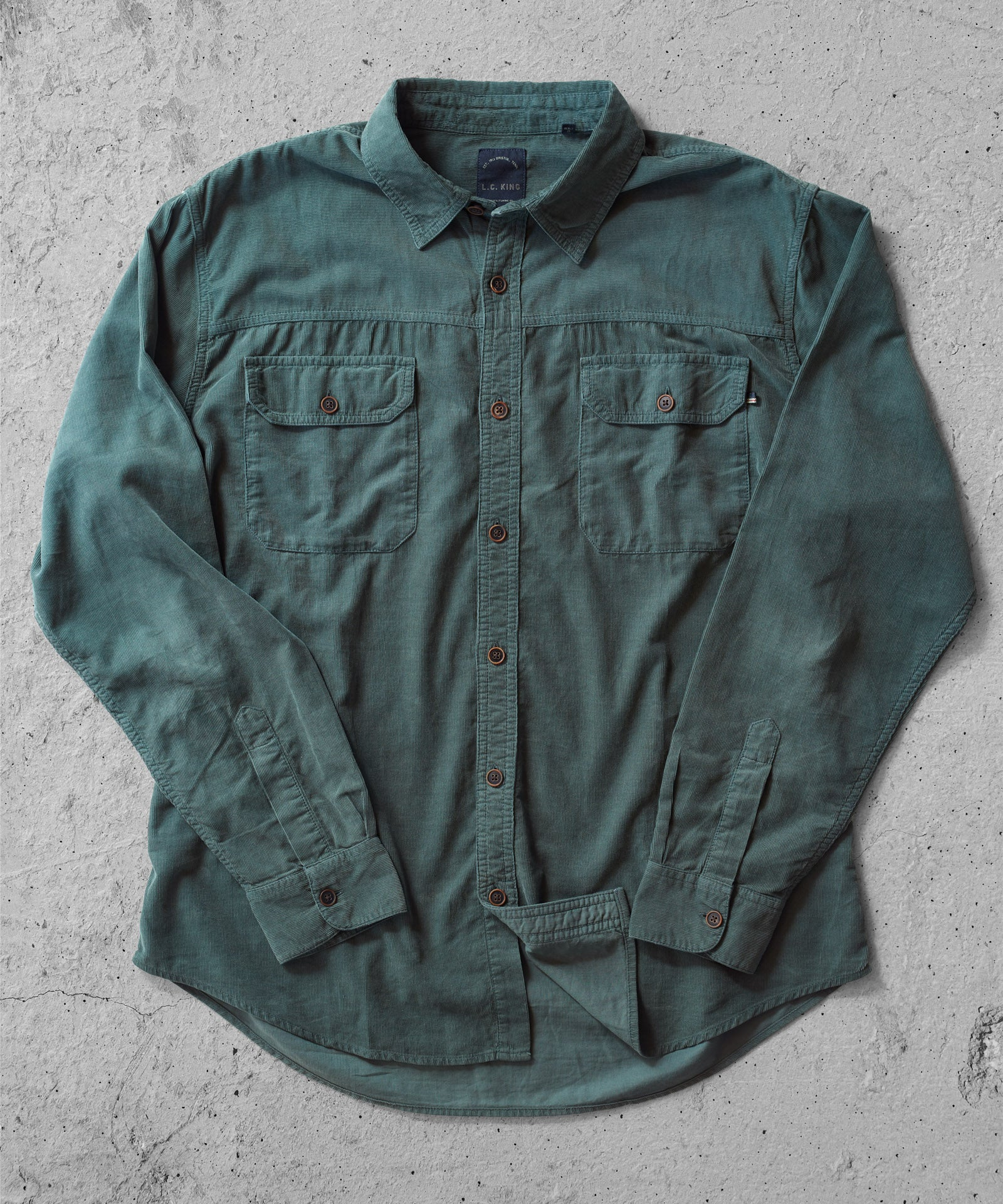 Corduroy Rover Shirt - Spruce