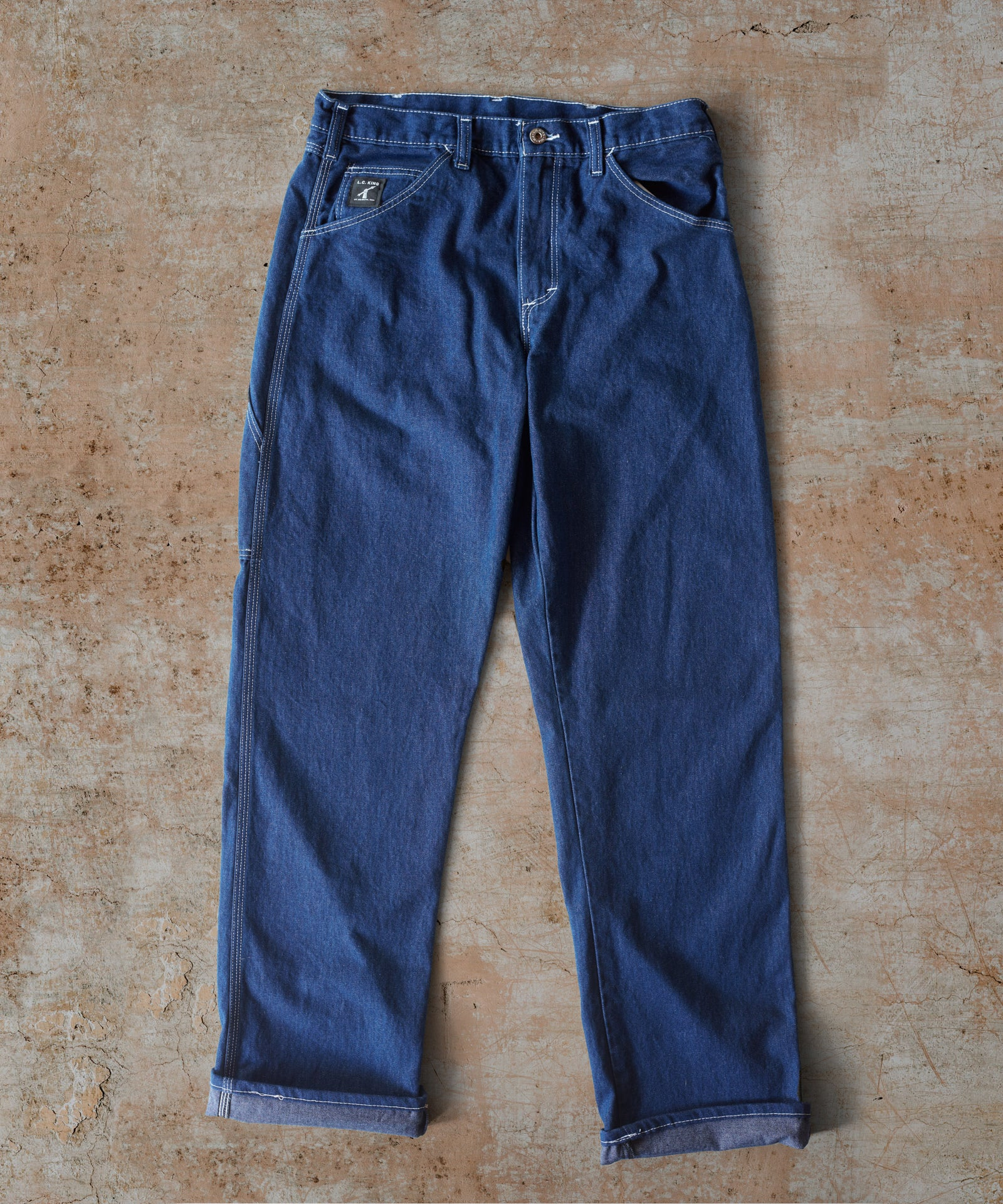 Washed Denim Carpenter Pant