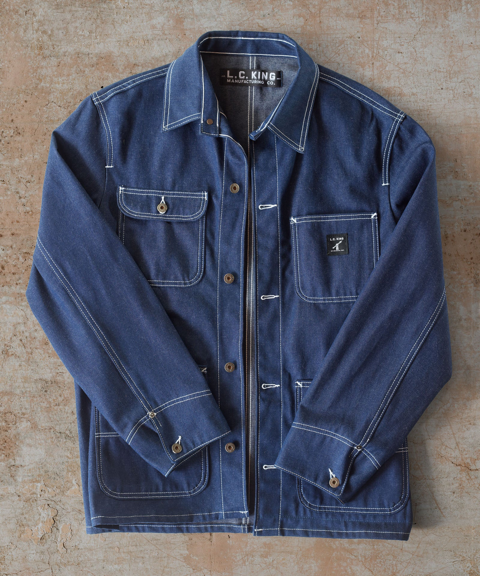 Washed  Indigo Denim Chore Coat