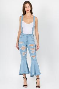 Soooo Distressed Overalls with a FLARE