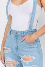 Soooo! Distressed Overalls with a FLARE Black