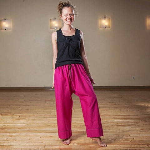 "Sunset Pink Length 1 Original Light Weight Dream Yoga Pants<br>Photo taken at <a href=""http://www.estheryoga.com"" target=""_blank"">Esther Myers Yoga Studio </a>in Toronto, Canada<br>Photography credit: Taralea Cutler of <a href=""http://archive.eyecontact.ca/portfolio"" target=""_blank"">Eye Contact Photography, Toronto </a>"