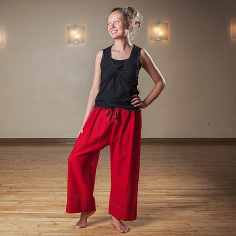 "Deepest Red Length 1 Original Light Weight Dream Yoga Pants<br>Photo taken at <a href=""http://www.estheryoga.com"" target=""_blank"">Esther Myers Yoga Studio </a>in Toronto, Canada<br>Photography credit: Taralea Cutler of <a href=""http://archive.eyecontact.ca/portfolio"" target=""_blank"">Eye Contact Photography, Toronto </a>"