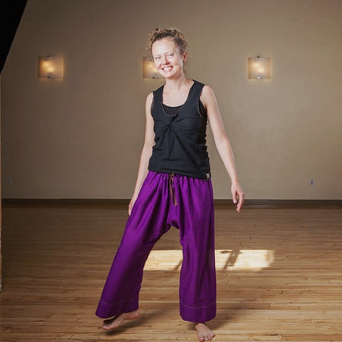 "Purple Length 1 Original Light Weight Dream Yoga Pants<br>Photo taken at <a href=""http://www.estheryoga.com"" target=""_blank"">Esther Myers Yoga Studio </a>in Toronto, Canada<br>Photography credit: Taralea Cutler of <a href=""http://archive.eyecontact.ca/portfolio"" target=""_blank"">Eye Contact Photography, Toronto </a>"
