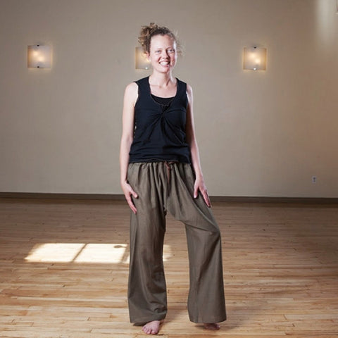 "Raw Umber Length 2 Original Light Weight Dream Yoga Pants<br>Photo taken at <a href=""http://www.estheryoga.com"" target=""_blank"">Esther Myers Yoga Studio </a>in Toronto, Canada<br>Photography credit: Taralea Cutler of <a href=""http://archive.eyecontact.ca/portfolio"" target=""_blank"">Eye Contact Photography, Toronto </a>"