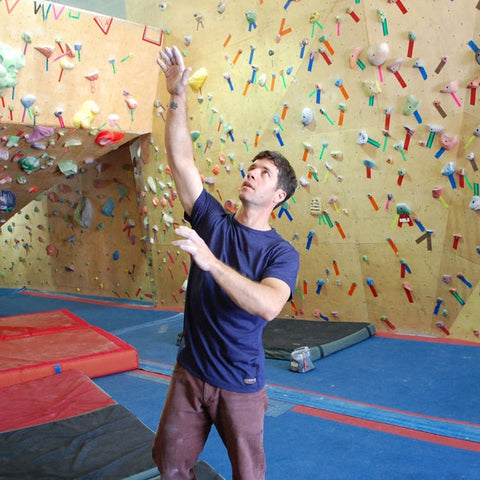 "Bamboo Long-Sleeved T-Shirts for Men<br>Pictured here: Andrew McBurney of <a href=""http://www.boulderzclimbing.com"" target=""_blank"">Boulderz Climbing Centre</a> in Toronto, Ontario"