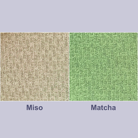 Warm Textured Knit Fabric Colours: Miso & Matcha!