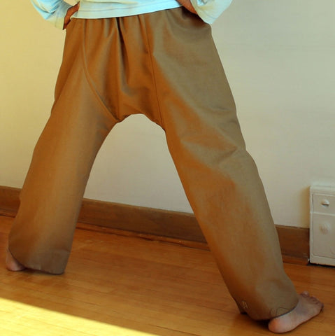 Thicker Cotton Dream Pants: Loose-Fitting Yoga Pants for Men back view<br>Colour: Brown Sugar, Bottom Pantleg Choice: Regular