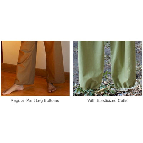 Thicker Cotton Dream Pants: Loose-Fitting Yoga Pants for Men. Bottom Pantleg Choices