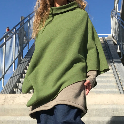 CAPES - WARM Textured Thick Specialty Knit Fabric Fleecy Inside